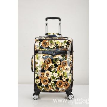 Unique pattern printed trolley soft luggage